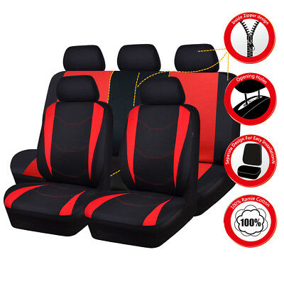 Universal Car Seat Covers Red Black TURCK SUV Car Seat Cover Set 50/50 60/40