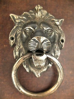 Brass Lion Door HanVINTAGE ANTIQUE STYLE HAND MADE SOLID BRASS LION DOOR KNOCKER