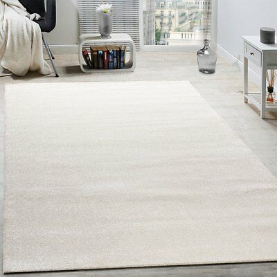 Cream Rug Plain Woven Living Room Bedroom Carpet Thick Small Extra Large XL New