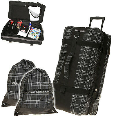 Trolley ELEPHANT 80 XXL Koffer Reisetrolley Sporttrolley Reisetasche Plaid KARO