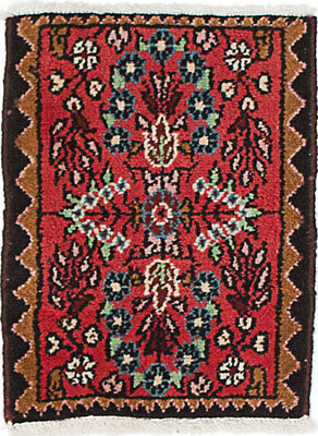 """Hand-knotted Persian Carpet 1'3"""" x 1'7"""" Persian Wool Rug...DISCOUNTED!"""