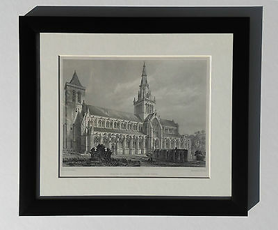 Genuine Antique Print - Scotland - Glasgow Cathedral, 1901, Framed