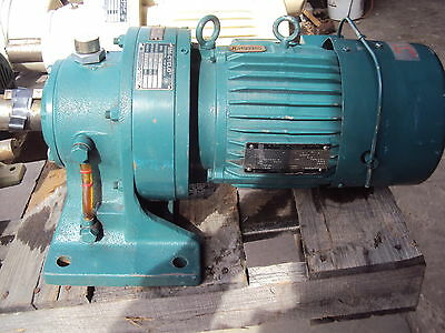Sm-Cyclo Hms1845  Ratio 43 With 3 Ph Motor V 460 Rpm 1735 1 Hp Fr 143Ty Used