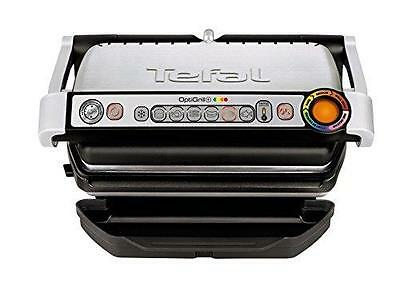 New Tefal Stainless Steel OptiGrill Plus Health Grill, 2000W, Silver GC713D40