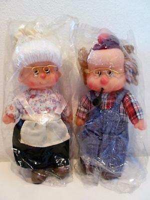Rare Vintage Ice Cream Doll Grandparents Grandma Grandpa Plush Soft Toy Dolls