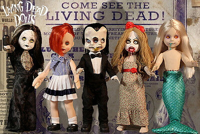 Living Dead Dolls series 30 set~Freakshow~Mezco~Horror~Gothic~NIB