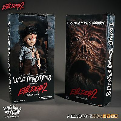 Living Dead Dolls Evil Dead 2 ASH Williams doll/figure~Bruce Campbell~NIB