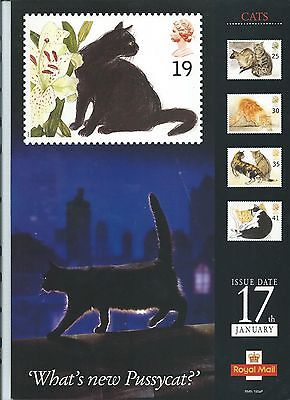 wbc. - GB - ROYAL MAIL POSTERS - A4 - 1995 - CATS  - MINOR FAULTS
