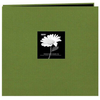"Pioneer 4"" x 6"" Fabric Cover Photo Album (Hunter Green, 2 up / 200 Pocket)"