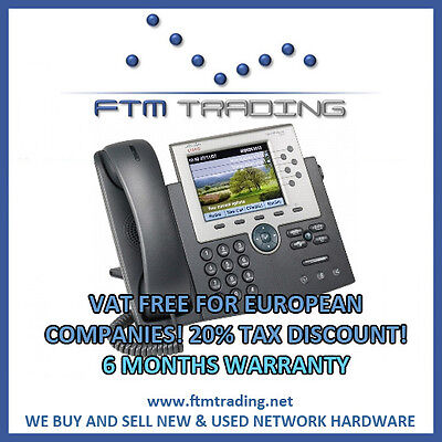 Cisco CP-7975G IP Phone NEW MINT sccp sip 7975 7900 COLOR DISPLAY voip cucm cme