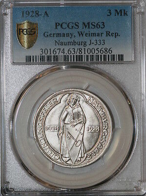 1928-A Germany 3 Mark PCGS MS63