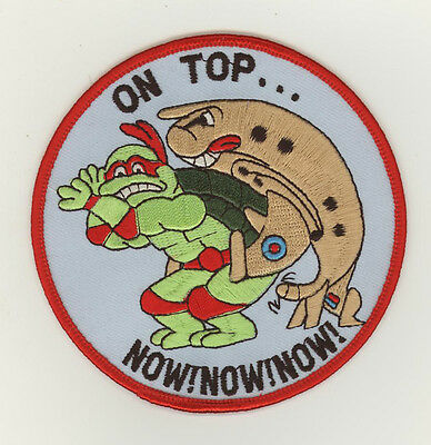 RAF Royal air force patch 120/206 squadron On top turtle Nimrod MR2 Kinloss