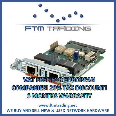 Cisco VIC2-2BRI-NT/TE Voice Module REFURBISHED for 2800 3800 2900 3900 ISDN BRI