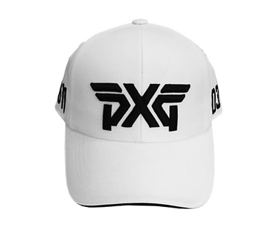 Pxg Golf Logo Poly Cap Hat Headwear White 0311 3D Embroidery Premium Authentic