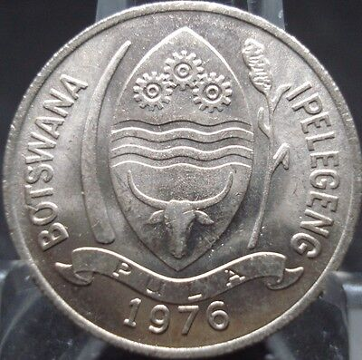 1976 Botswana !) Thebe Brilliant Uncirculated Coin-Abo7610