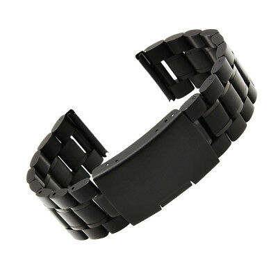 Black Solid Stainless Steel Wristband Strap Band+Tool For LG G Smart Watch PC719