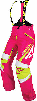 FXR Womens Fuchsia/Electric Lime Snowmobile X-System Pants Snocross