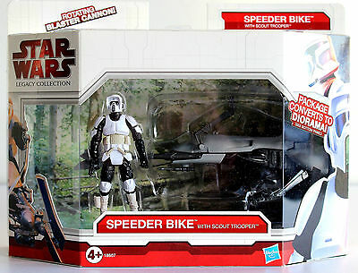 Star Wars The Legacy Collection Endor Speeder Bike With Scout Trooper Hasbro