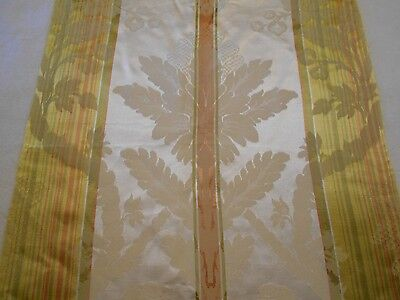 Antique 1920's Imberline Damask DA VINCI Golden Chartreuse Made in Italy Unused