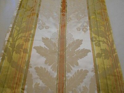 Antique 1920  Imberline Damask DA VINCI Golden Chartreuse Made in Italy Unused