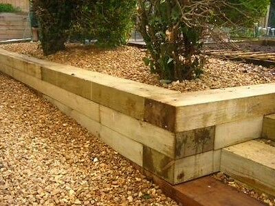 Pressure Treated Redwood Sleepers 2.4m by 200mm x 100mm