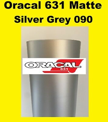 "Oracal 631 Matte Silver Grey 090 Sign Vinyl Indoor Wall Stickers 12""x 10 ft"