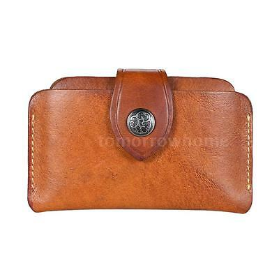 Classic Business Leather 3-Layer ID Credit Card Holder Case Purse Wallet Y7K1