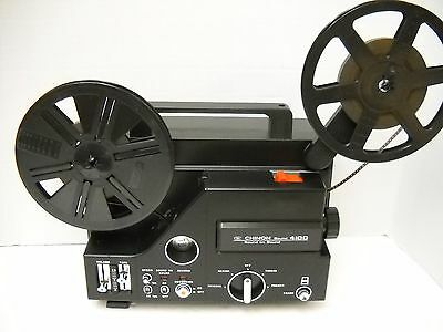 Chinon Sound 4100  Super 8mm Projector - 18 24 FPS  - New Belt!