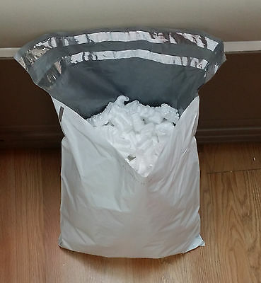 1 bag full of Shipping Packing Peanuts White color that fills full 10x10x6 box