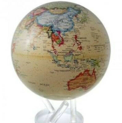 "MOVA Globe- Earth - Antique Political - large - 15cm/ 6"" - self rotating sphere"
