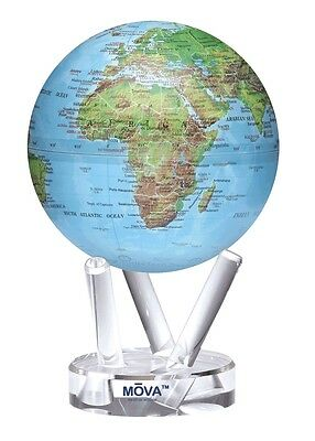 "MOVA Globe- Earth - Blue Ocean Relief map - 15cm/ 6"" - self rotating sphere"