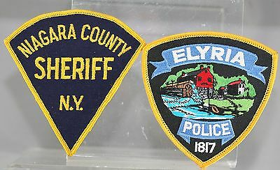 Obsolete State Of New York Niagara & Elyria Police Shoulder Patches