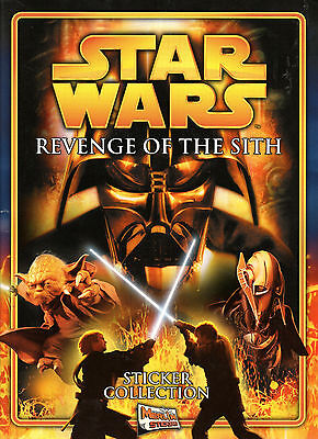 Star Wars REVENGE OF THE SITH Sticker Album and poster