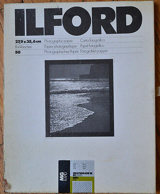 ILFORD Photo Paper Multigrade III RC Rapid MGR 5M 11X14 50 Sheet Box Open
