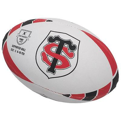 Ballon de rugby Gilbert Toulouse t5 st  rugby Blanc 40717 - Neuf