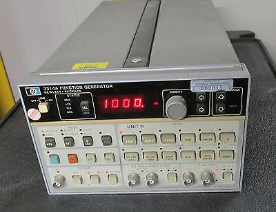 Agilent HP 3314A 20 MHz Function Generator, no opt