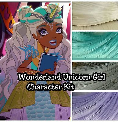 Ever After High Wonderland Unicorn Girl Reroot Nylon Hair Kit for OOAK Doll