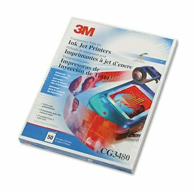 3M CG 3480 Universal InkJet Transparency Film 50 Sheets Pk