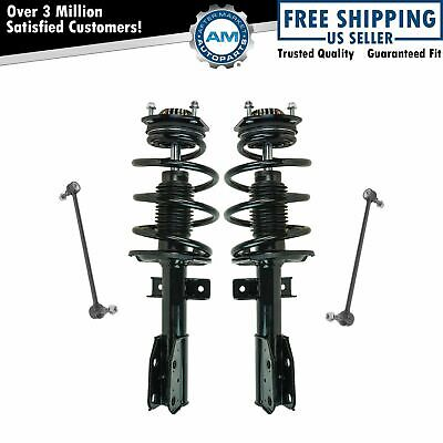 Shock Strut & Coil Spring w/ Sway Bar Link Front LH RH Kit for Buick GMC Saturn