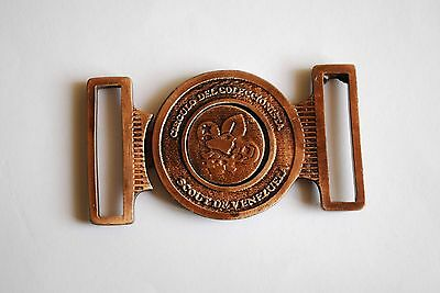 Buckle Boy Scouts Collectors of Venezuela - Bronze color