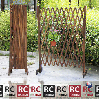 Garden Climbing Plant Support Expandable Lattice Screen Wooden Trellis Fence