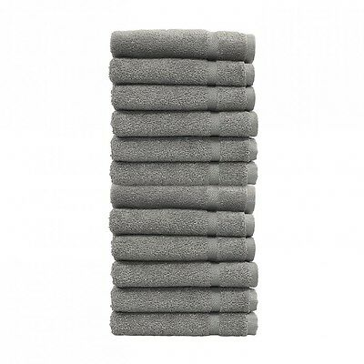 24 new charcoal grey salon gym spa towels ringspun hand towels 16x27 3# premium
