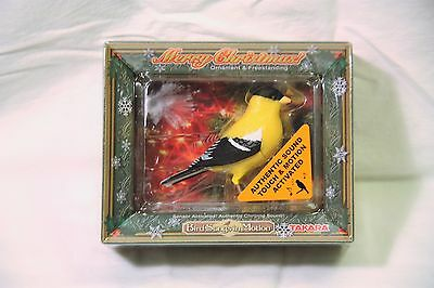 New Takara Bird Songs in Motion Christmas Breezy American Goldfinch Authentic