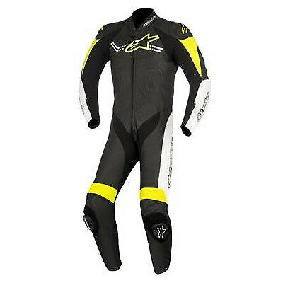 Alpinestars Mens Challenger-V2 1 Piece Race Suit - Black / White / Fluro Yellow