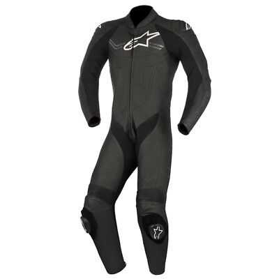 Alpinestars Mens Challenger-V2 1 Piece Race Suit - Black Road Motorcycle Street