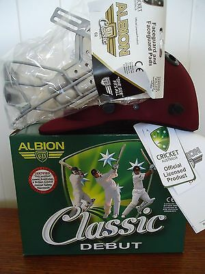 CRICKET HELMET ALBION CLASSIC 58cm L LARGE MAROON COMPLIANT CLEARANCE BRAND NEW