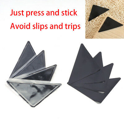 8 X Rug Carpet Mat Grippers Non Slip Anti-skid Washable Reusable Grips Pads