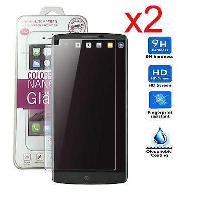 2x 9H Gorilla Tempered Glass Screen Protector For LG V10 H961 H901 H990 H900 US