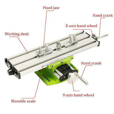 Multifunction Milling Machine Vise Fixture Adjustment Worktable For Bench Drill