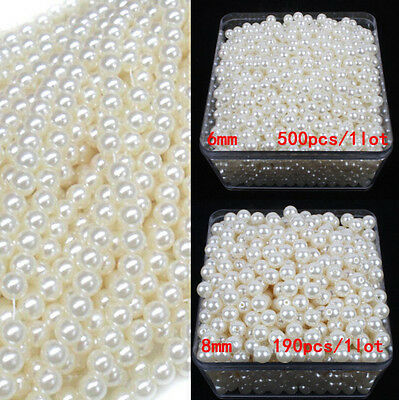 Straight holes round imitation plastic pearl for jewelry accessories Beads